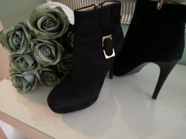 Diane von Furstenberg Platform Booties black leather