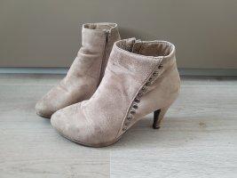 tolle Stiefletten, Ankle Boots in braungrau, Gr. 39