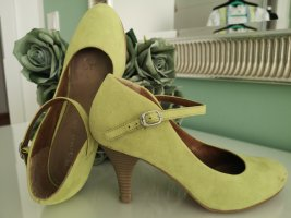 Tamaris Backless Pumps lime-green