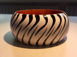 Bangle multicolored wood
