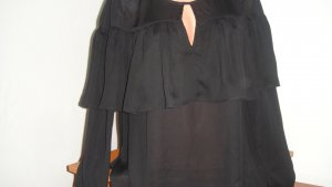 a'nge Ruffled Blouse black polyester