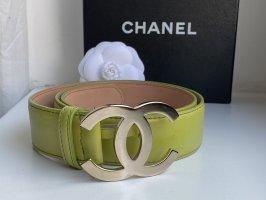 Chanel Cintura di pelle giallo lime