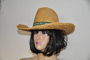 Chapeau de paille brun sable bois