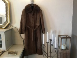 Ledermann Cappotto in pelle bronzo-marrone-nero Pelle