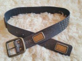 Harpa Cinturón de pinchos gris antracita-naranja claro