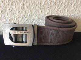 G-Star Raw Fabric Belt brown-grey cotton