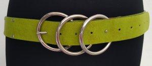 Jago Cinturón de cuero de imitación verde hierba