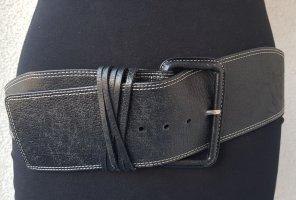 Luisa Cerano Cinturón de cuero de imitación negro