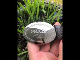 Prada Leather Belt dark grey