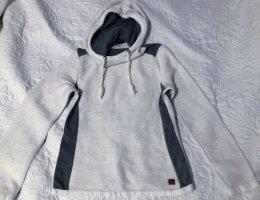 100 Capuchon sweater wit-zilver