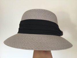 keine Sombrero de ala ancha gris claro-negro