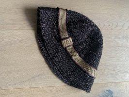 Missoni Miękki kapelusz z szerokim opuszczonym rondem czarny-brąz