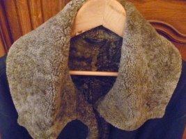 Leren jas zwart bruin-donkerbruin Leer