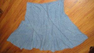 ZOE Falda de lino azul-azul claro Lino