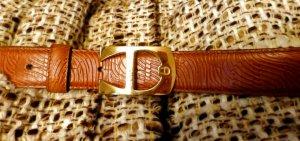 Aigner Cintura di pelle marrone chiaro-oro Pelle