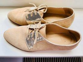Bobbies Chaussure Oxford doré-crème cuir