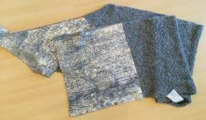 Marc Cain Knitted Scarf black-light grey mixture fibre