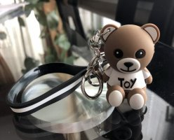 Moschino Key Chain brown-white