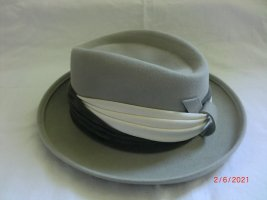 Felt Hat silver-colored