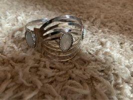 Bangle silver-colored-natural white