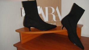 Zara Stivale elasticizzato nero Lycra