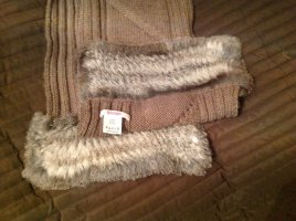 Bloom Woolen Scarf taupe