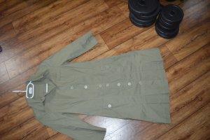 Tolles hübsches olivfarbenes Hemdblusenkleid Gr.38 LineaTesini