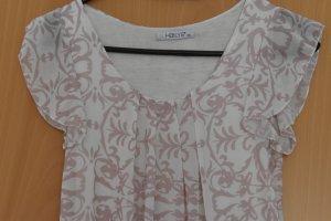 Halyes Koszula typu carmen biały-jasny różowy Poliester