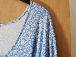 Bon Brix Sukienka z dżerseju biały-błękitny