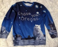 100% Fashion Crewneck Sweater blue