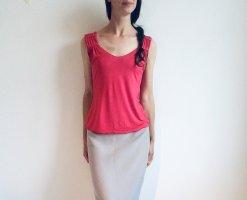 Armani Top basic rosso lampone-rosa