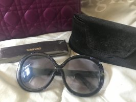 Tom Ford Retrobril donkerblauw-zilver