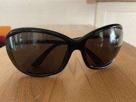 Tom Ford Owalne okulary przeciwsłoneczne czarny