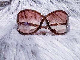 Tom Ford Occhiale stile retro oro-marrone