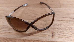 Tom Ford Lunettes de soleil ovales marron clair