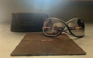 Tom Ford Oval Sunglasses dark brown