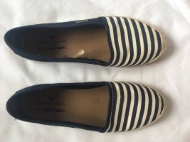 Tom Tailor Mocasines azul oscuro-blanco