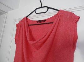 Tom Tailor Denim Cowl-Neck Top brick red polyester