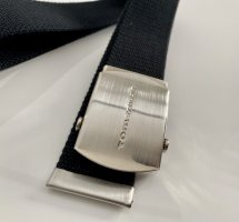 Tom Tailor Fabric Belt black-silver-colored