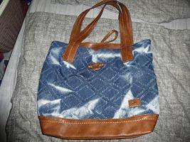 Tom Tailor - Handtasche Tasche Jeans - groß - denim braun - NEU