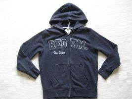 tom tailor hoodie jacke gr. s 36 dunkelblau