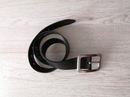 Tom Tailor Ledergürtel schwarz 75 cm