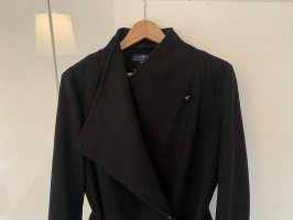 Tom Tailor Denim Cappotto in lana nero Viscosa