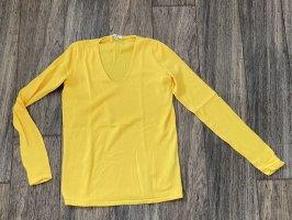 Tom Tailor Pullover NEU gelb XS 34 S 36 Pulli V-Ausschnitt knit Strick