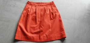 Tom Tailor Flared Skirt dark orange