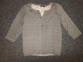 Tom Tailor Shirt dreiviertel Arm blau/weiß genustert S
