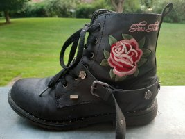 Tom Tailor Lace-up Boots black