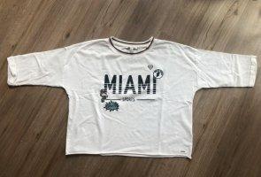 Tom Tailor Sweatshirt Pulli Shirt mit Print Gr. XS