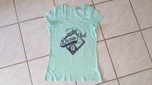 "Tom Tailor T-Shirt "" mintgrün "" Gr. L "" neuwertig !!!"