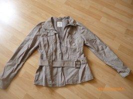 Tom Tailor Kurtka przejściowa szaro-brązowy-jasnobrązowy Bawełna